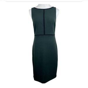 Ann Taylor LOFT Green/Black Sleeveless dress Sz 2
